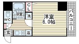 ヒューネット神戸元町通[501号室]の間取り