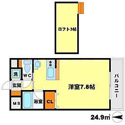ヴァンクリーフ[3階]の間取り