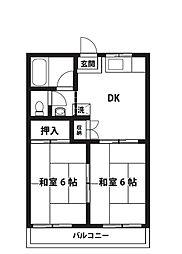 竹ノ花ハイツ[2階]の間取り