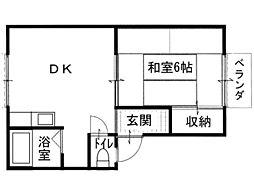 鹿隈リゾートタウン30[2階]の間取り