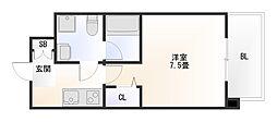 大阪府大阪市浪速区浪速東3丁目の賃貸マンションの間取り