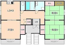 南桜塚アーバンハイツ[301号室]の間取り