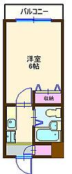 ジョイフル妙蓮寺[302号室]の間取り