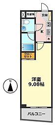 東京都江戸川区篠崎町1丁目の賃貸マンションの間取り