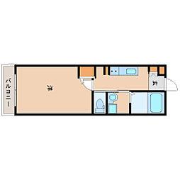 阪神本線 尼崎駅 徒歩8分の賃貸マンション 4階1Kの間取り