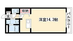 RIMP竹ノ山[203号室]の間取り