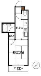 N4三宅[201号室]の間取り