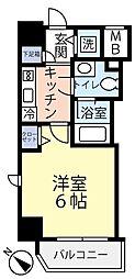 グランヴァン横濱反町 3階1Kの間取り