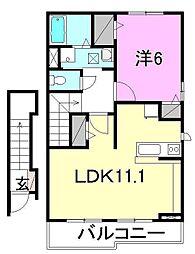 カーサ・ミトモI・II[A205 号室号室]の間取り