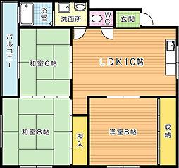内山第3ビル[402号室]の間取り