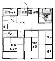 逗子駅 徒歩17分2階Fの間取り画像