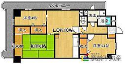 福岡県古賀市天神1丁目の賃貸マンションの間取り