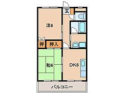 コーポ花園[2階]の間取り