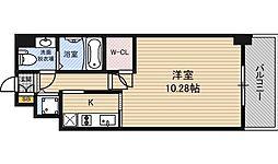 エスリード福島リバーフロント[3階]の間取り