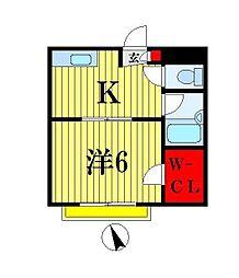 キワ・パインプラザ[102号室]の間取り