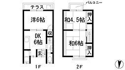 [テラスハウス] 兵庫県川西市萩原2丁目 の賃貸【/】の間取り