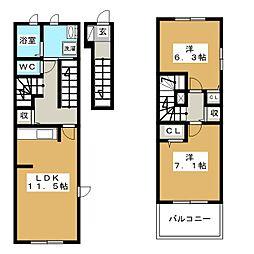 グランツハウスIII[2階]の間取り