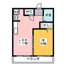 メゾンさかい[3階]の間取り