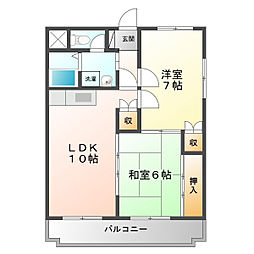 第366川辺ビル[4階]の間取り