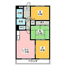 OMレジデンス瀬戸II[2階]の間取り