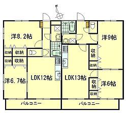 千寿パレス[2階]の間取り