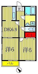 シンフォニータカラ[2階]の間取り