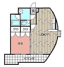 ウィルステージ古船場[1201号室]の間取り