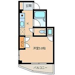 神奈川県相模原市中央区小山2丁目の賃貸マンションの間取り