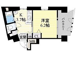 エステムコート新大阪3ステーションプラザ 12階1Kの間取り