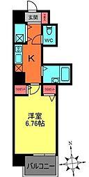 東京都調布市布田1丁目の賃貸マンションの間取り