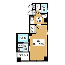 サニーコート東桜[6階]の間取り