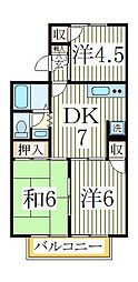 ストークタウンB[1階]の間取り