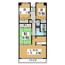 グラスランド21[4階]の間取り