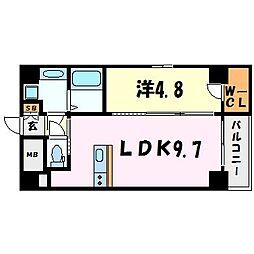 セレニテ甲子園II[4階]の間取り