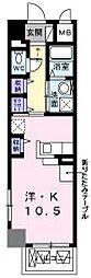 JR山陽本線 明石駅 徒歩12分の賃貸マンション 1階1Kの間取り