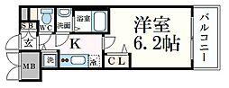 名古屋市営名城線 金山駅 徒歩3分の賃貸マンション 6階1Kの間取り