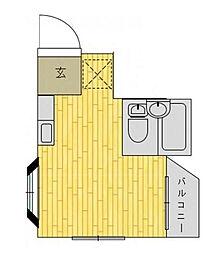 神奈川県川崎市麻生区細山2丁目の賃貸アパートの間取り