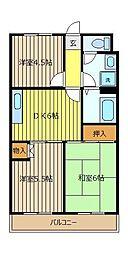 朝霞シティハイツ[4階]の間取り
