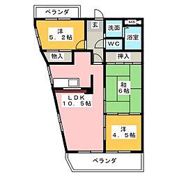 アニヴァーサリ[6階]の間取り