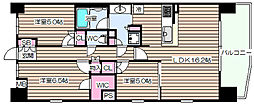 S-GLANZ大阪同心[11階]の間取り