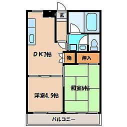 ロイヤルハウス2[2階]の間取り