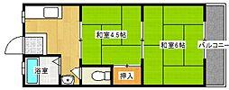 泉佐野グリーンハイツ[1階]の間取り
