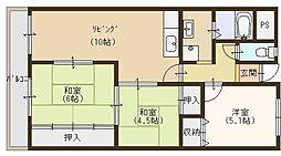 四条畷サカモトマンション[502号室]の間取り
