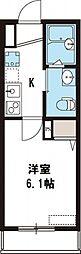 NKハウス[203号室号室]の間取り