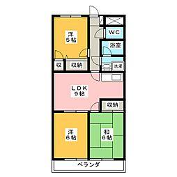 レジデンス扶桑[3階]の間取り