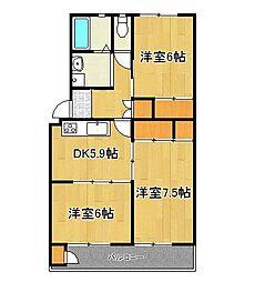 前田ハイツ3号棟[315号室]の間取り
