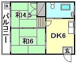 第4三和マンション[306 号室号室]の間取り