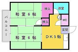 田島コーポ[2階]の間取り