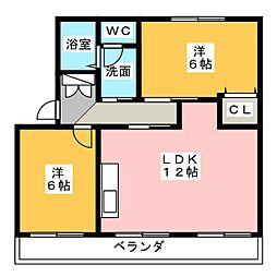第2田畑ハイツ[3階]の間取り
