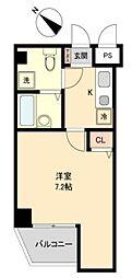 東京メトロ有楽町線 要町駅 徒歩13分の賃貸マンション 6階1Kの間取り